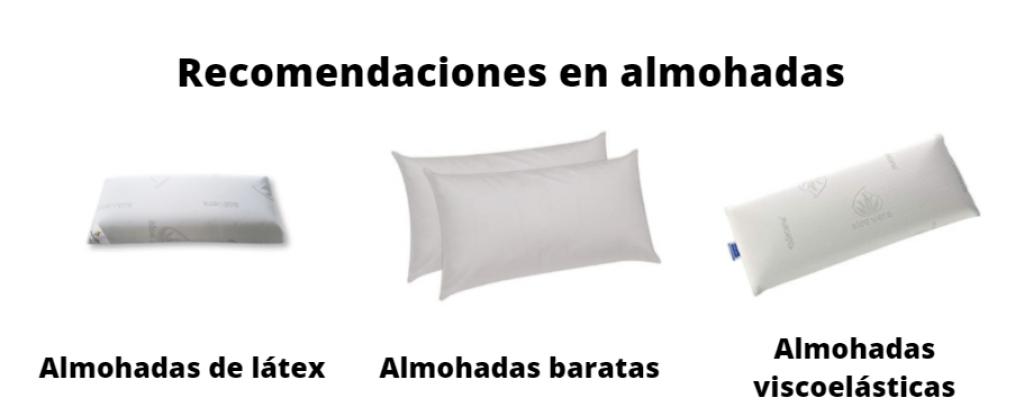recomendaciones en almohadas