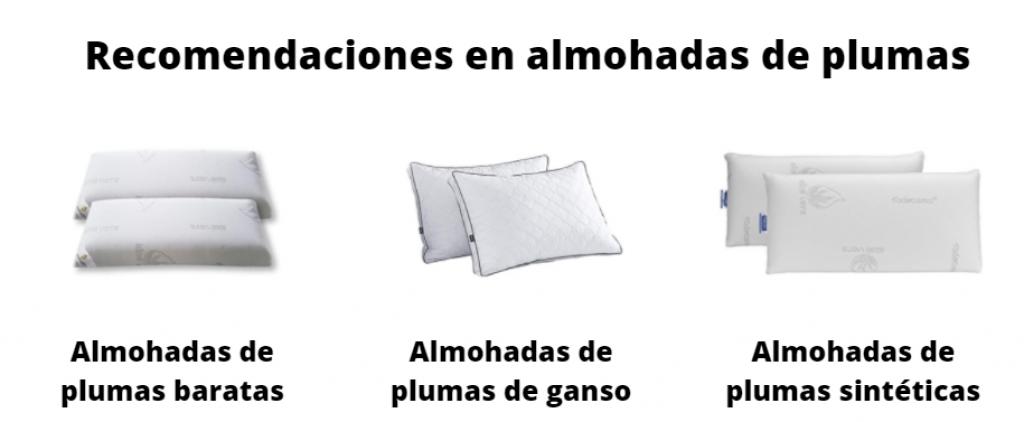 Recomendaciones de almohadas de plumas