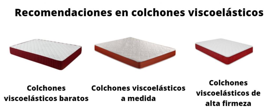 Recomendaciones en colchones viscoelasticos